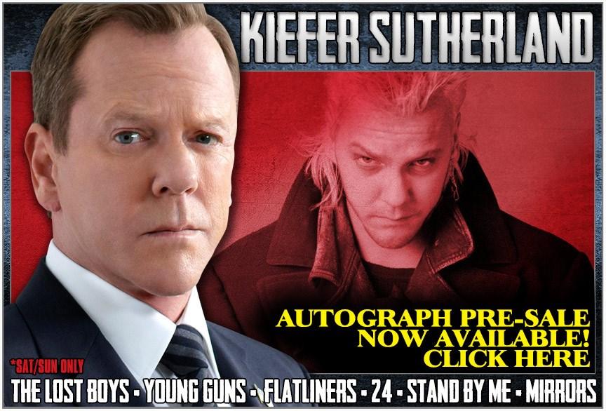 Kiefer Sutherland Autograph Presale LIVE - HorrorHound