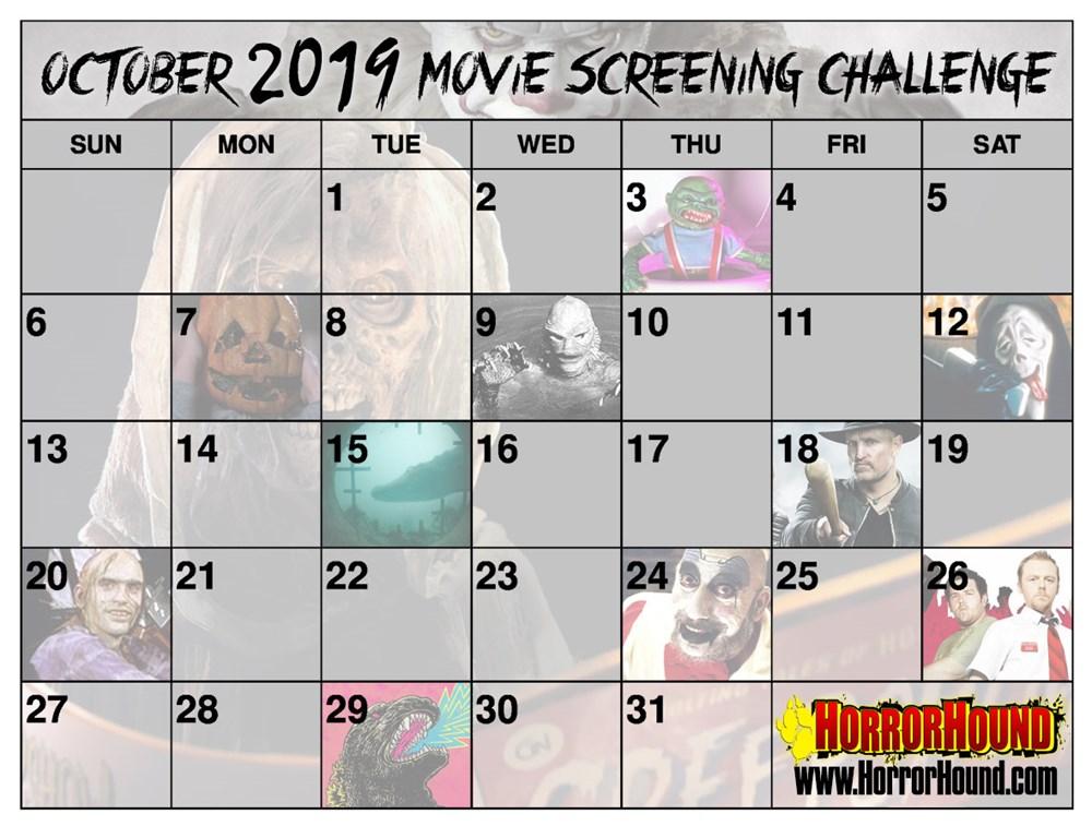 Halloween Movieoctober 2020 Calendar October Movie Screening Challenge 2019   HorrorHound