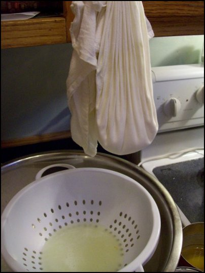 making cheese at home, making fromage blanc, homemade cheese, homesteading