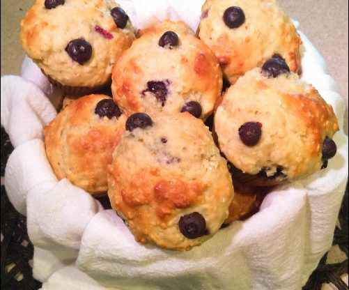 Easy Blueberry Oat Muffins