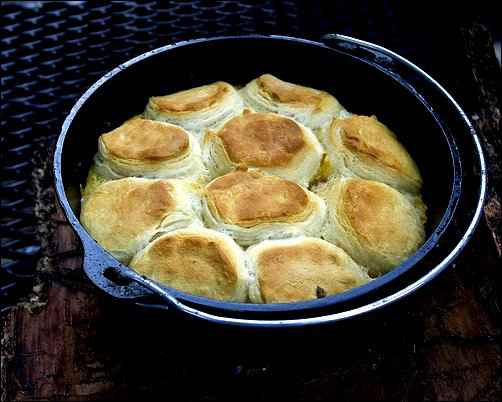 dutch oven baking biscuits