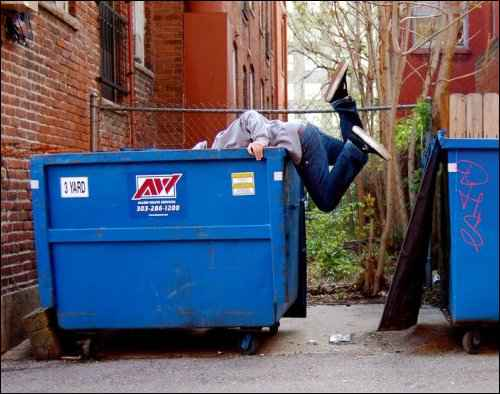 tips and tricks for Dumpster Diving