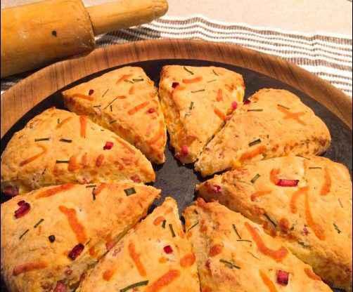Ham, Cheddar, & Chive Scones recipe