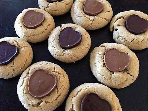 peanut-butter thumbprint cookies, valentine's day cookies