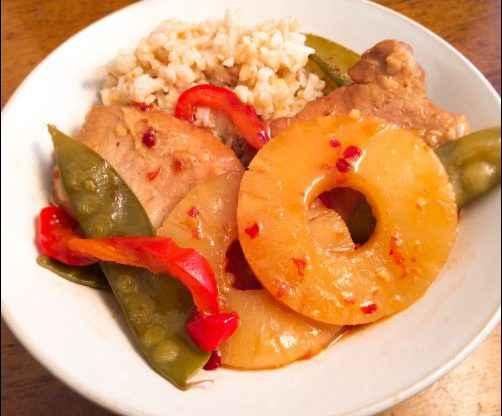 Sweet & Spicy Slow-cooker Pork Chops