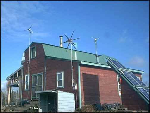 roof-top wind farms, using wind generators