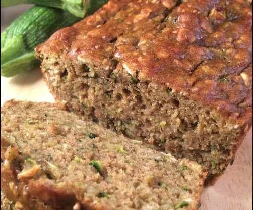 Avocado Zucchini Bread recipe, healthy zucchini bread