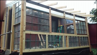 poor man's greenhouse. You can Build a Greenhouse Using Old Windows.