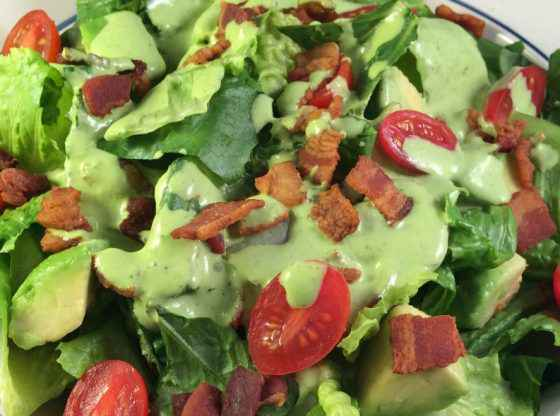 BLAT Chopped Salad with Green Goddess Dressing homesteading, homestead. homestead.org