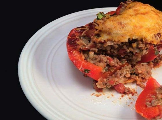 Stuffed Bell Peppers recipe homesteading, homestead. homestead.org