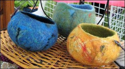 felted bowls, Fiber Fairs, selling fiber products, where to sell handmade yarn, Fiber festivals, Selling animal fibers, homesteading, homestead