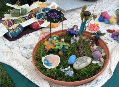 felted fairy garden, Fiber Fairs, selling fiber products, where to sell handmade yarn, Fiber festivals, Selling animal fibers, homesteading, homestead