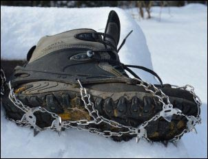 Using Snowshoes and Ice Cleats on the Homestead