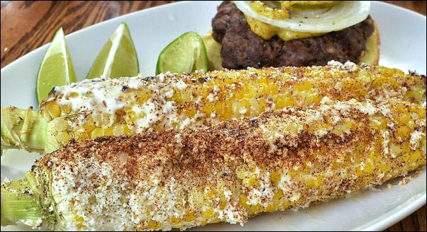 elote-Mexican-street-corn, How to Make the Best Burgers, best burgers, backyard cookout, homemade hamburgers, homemade condiments