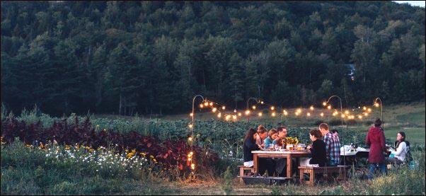 farm-to-table-dinner-outdoors, homestead hustles, make money from your homestead, jobs homesteaders can do, homestead side hustle