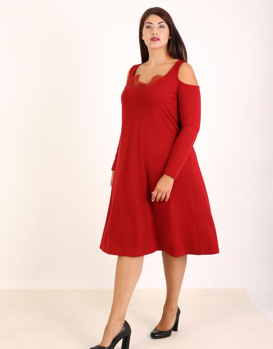 af987cd9e39d Έξωμο κλος φόρεμα με δαντέλα 6270718 | Γυναικεία Φορέματα | hotprice.gr
