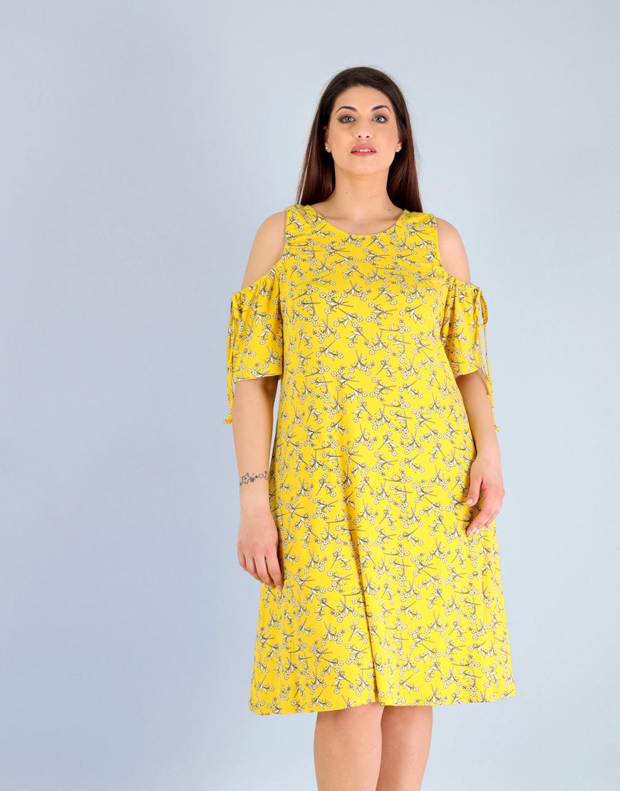 8369954a6cac Έξωμο φλοράλ μίντι φόρεμα 6272618