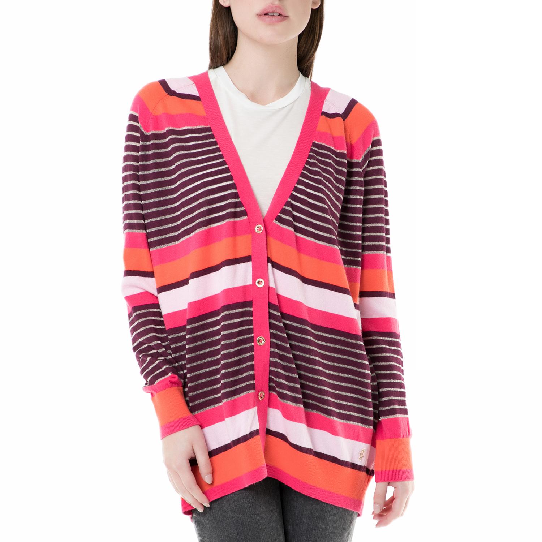 b4bea44af217 JUICY COUTURE - Γυναικεία ριγέ ζακέτα berenson stripe long card Juicy  Couture ροζ