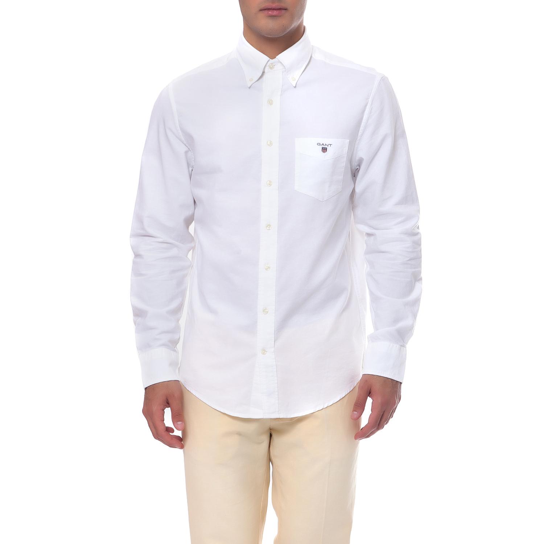 a5c0d1a347b7 GANT Ανδρικό πουκάμισο GANT λευκό μπλε