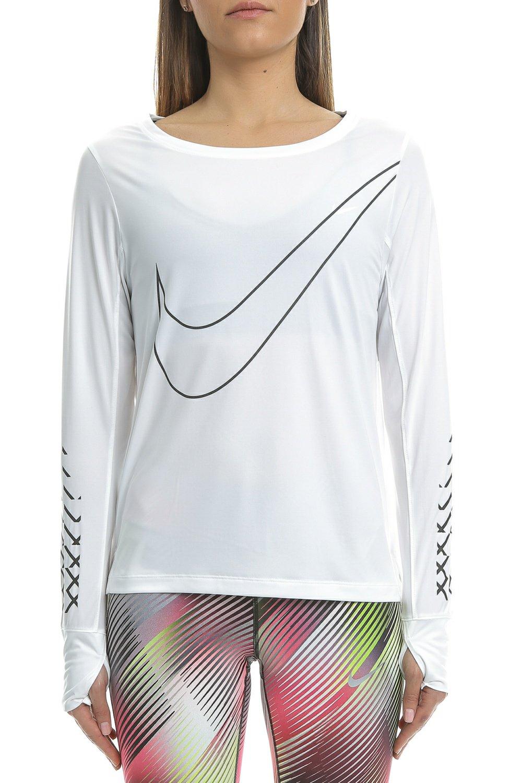 f8db5d9c7561 NIKE - Γυναικεία αθλητική μακρυμάνικη μπλούζα Nike BRTHE TOP LS CITY λευκή