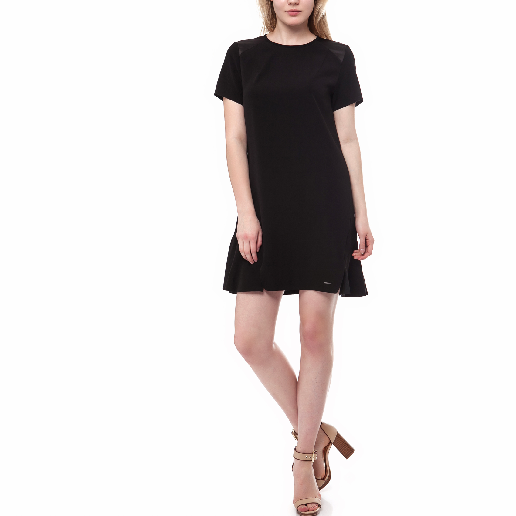 CALVIN KLEIN JEANS - Γυναικείο φόρεμα Calvin Klein Jeans μαύρο 9a95e11109b