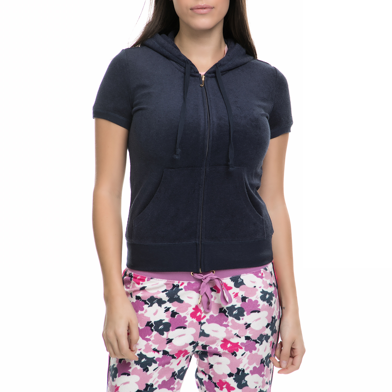 JUICY COUTURE - Γυναικεία κοντομάνικη ζακέτα JUICY COUTURE μπλε dfcf1658de7
