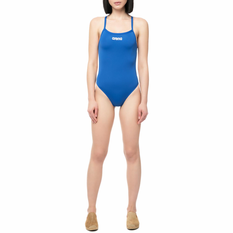 ARENA - Γυναικείο ολόσωμο μαγιό κολυμβητηρίου Arena SOLID LIGHTECH μπλε e1a6bdbe2d9