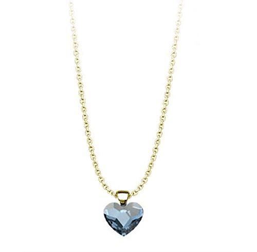 Κολιέ συλλογή Love καρδιά από επιχρυσωμένο ασήμι με πέτρα Swarovski ... 67960d58cce