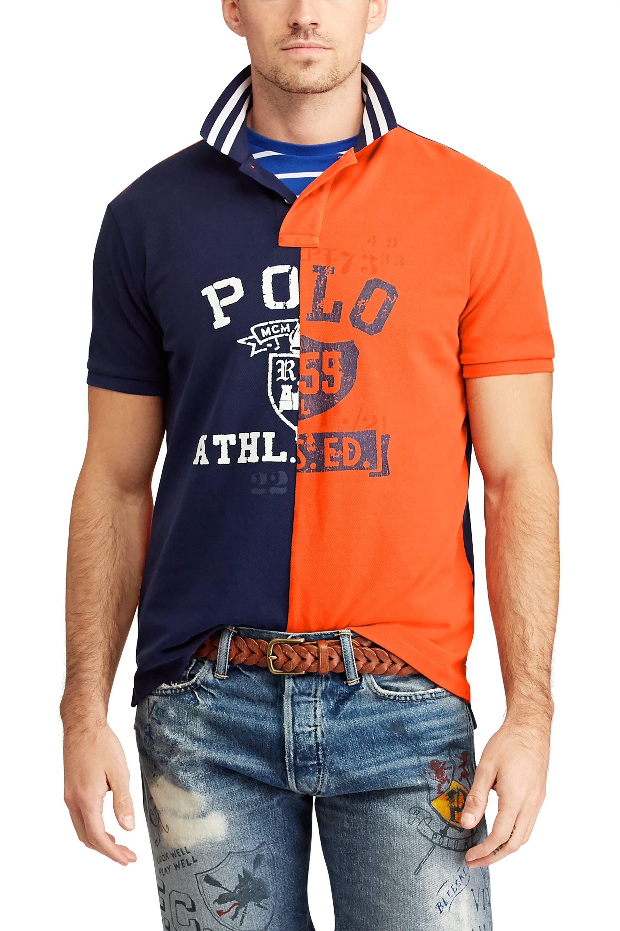 120740bea825 Polo Ralph Lauren ανδρική μπλούζα πόλο με στάμπα