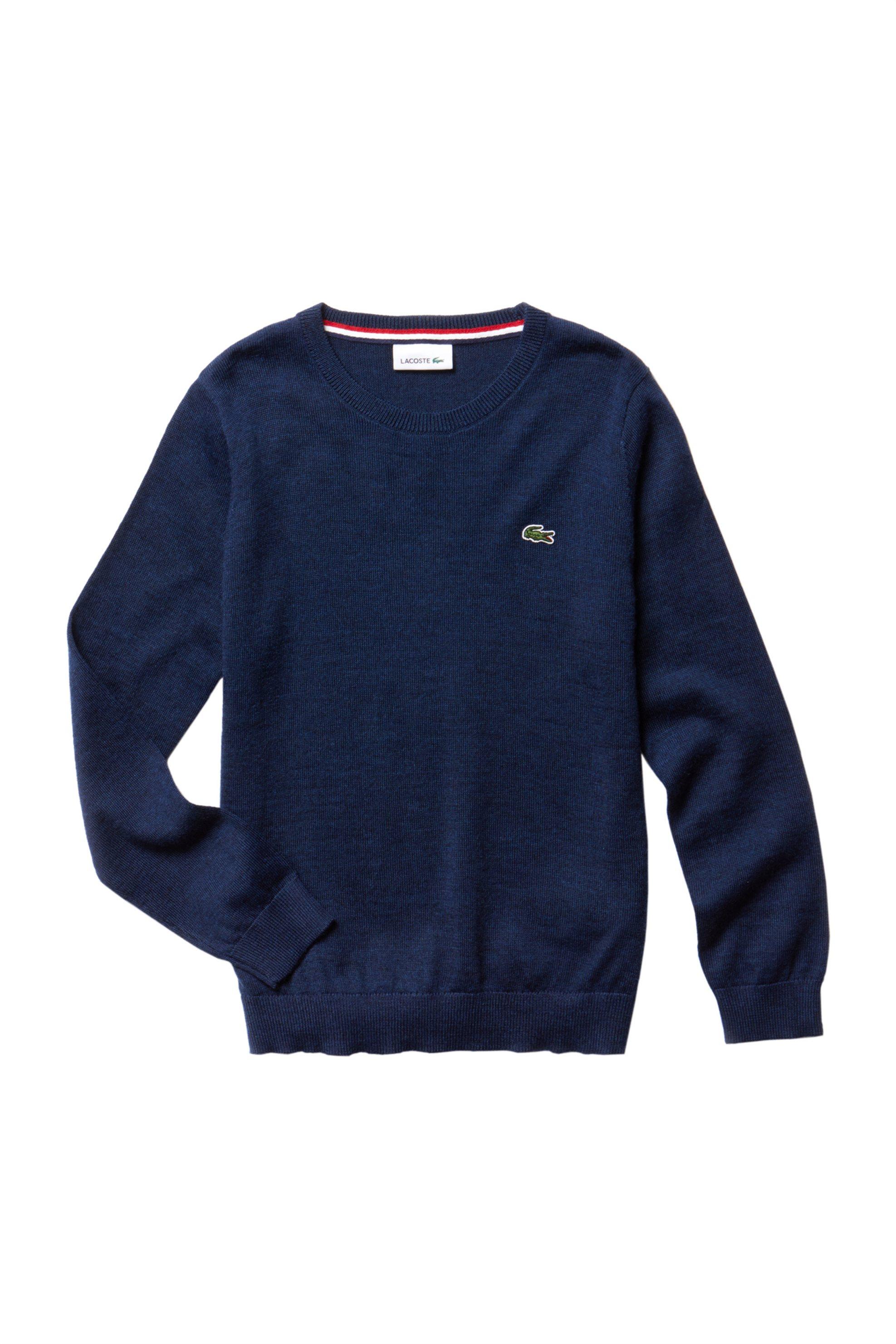 ab3cc56f6005 Lacoste παιδικό πουλόβερ με στρογγυλή λαιμόκοψη - AJ7432 - Μπλε Σκούρο