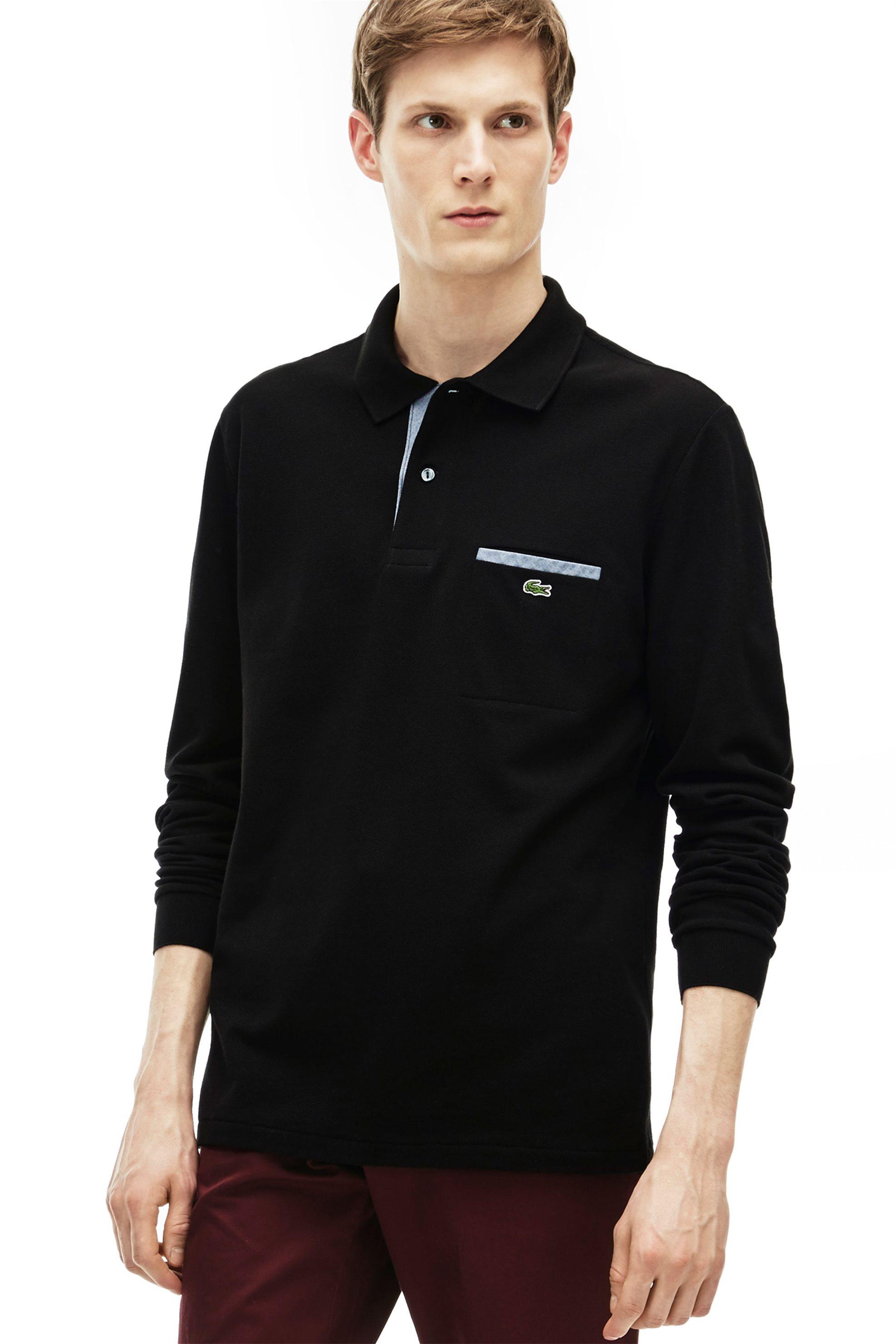 3963afd972bf Ανδρική μπλούζα polo με μακρύ μανίκι Lacoste - PH0118 - Μπλε Ηλεκτρίκ