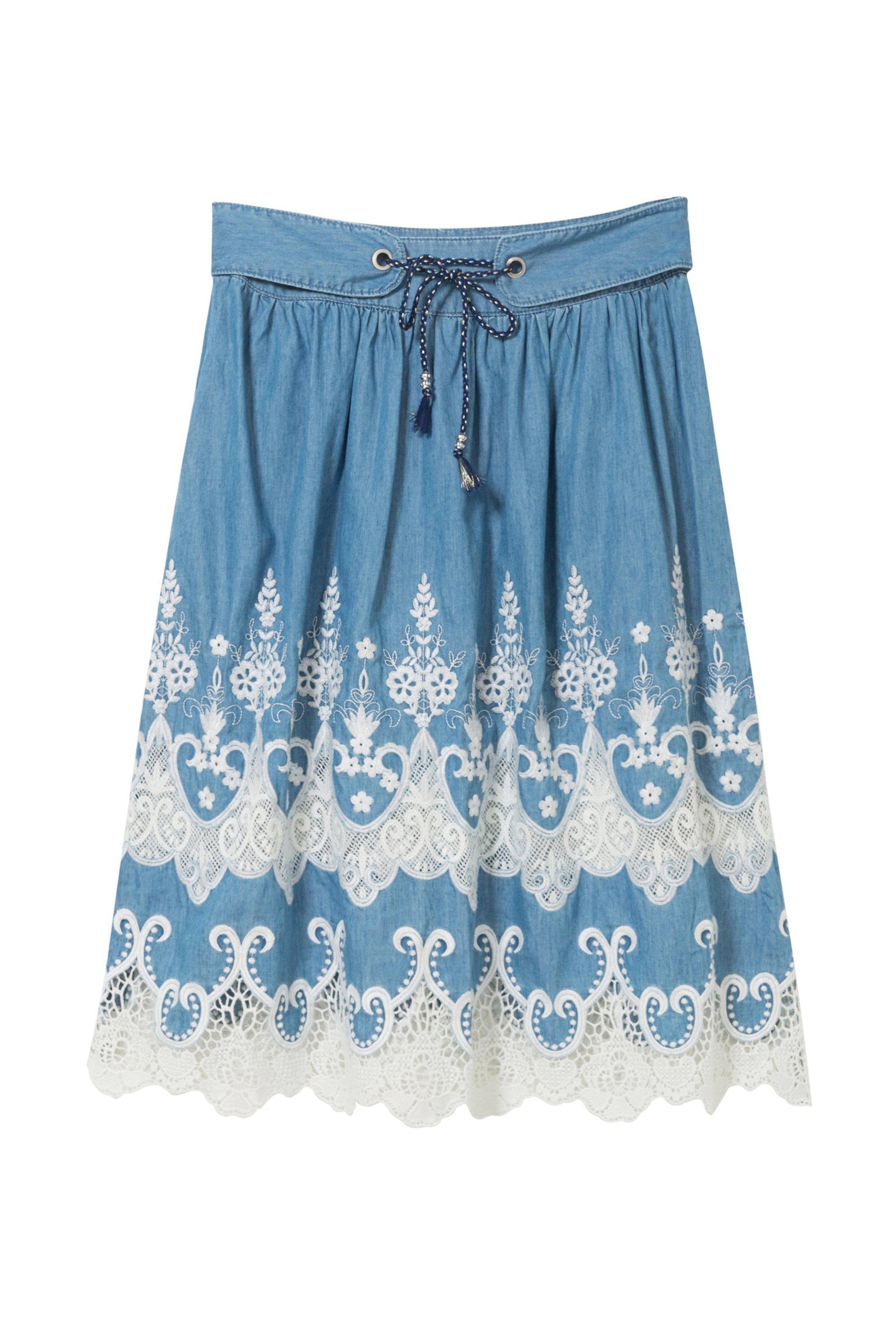 d2187c2dbf4 Γυναικεία τζην φούστα με δαντέλα Desigual 18S...