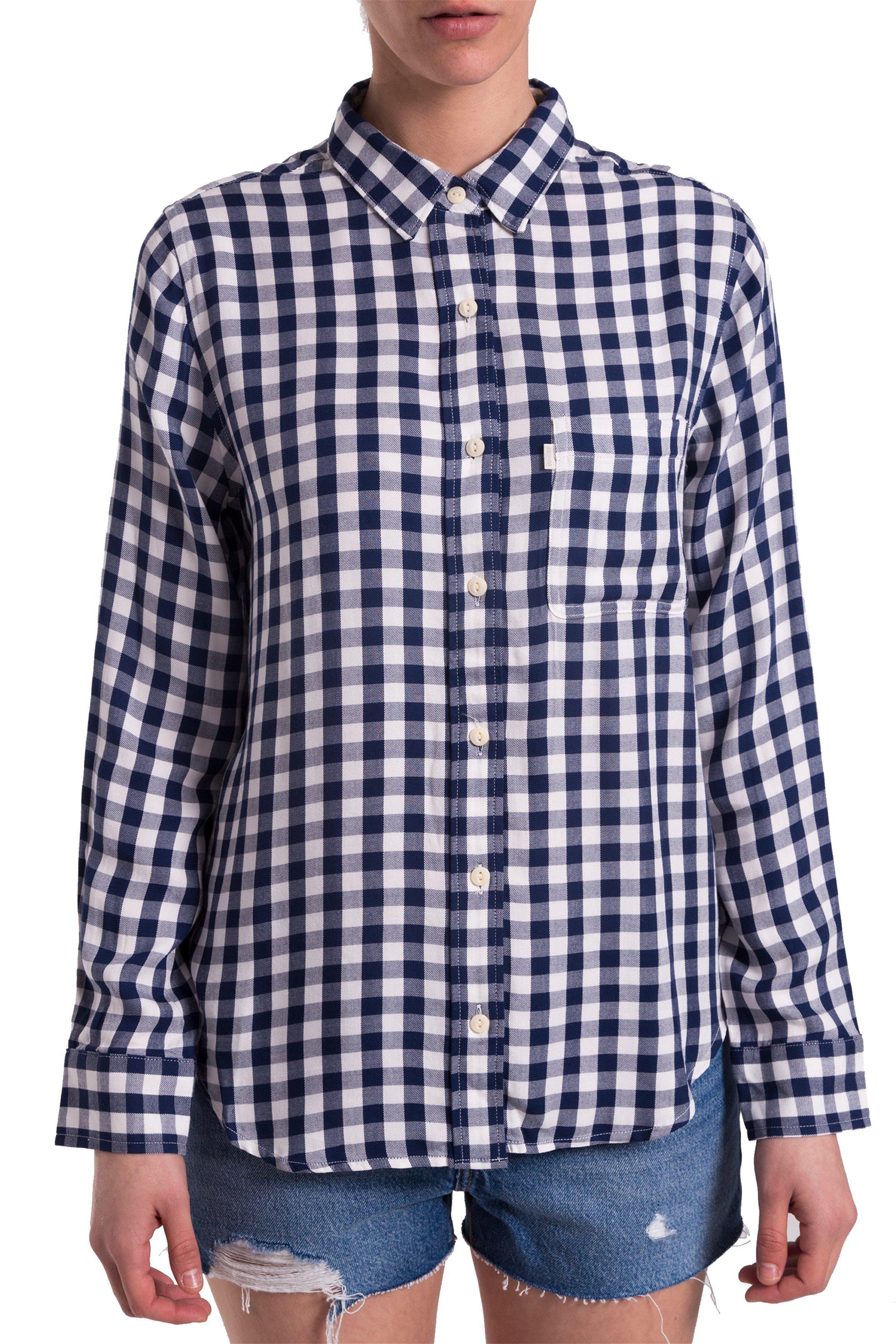 Γυναικείο καρό πουκάμισο Levi s - 4779400-09 - Μπλε Σκούρο 03d9d1f7d92