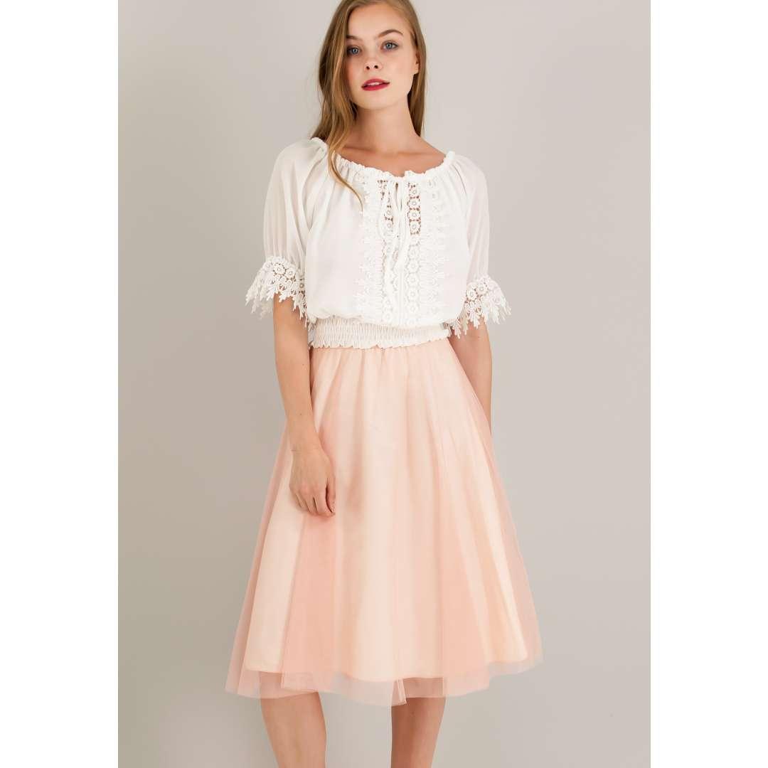Μίνι τούλινη φούστα με λάστιχο στη μέση. 6987840  ea1e6b06f47