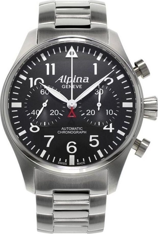 Alpina Aviation Startimer Pilot Automatic Chonograph Limited Edition  Stainless Steel Bracelet AL860B4S6B 46397449f16