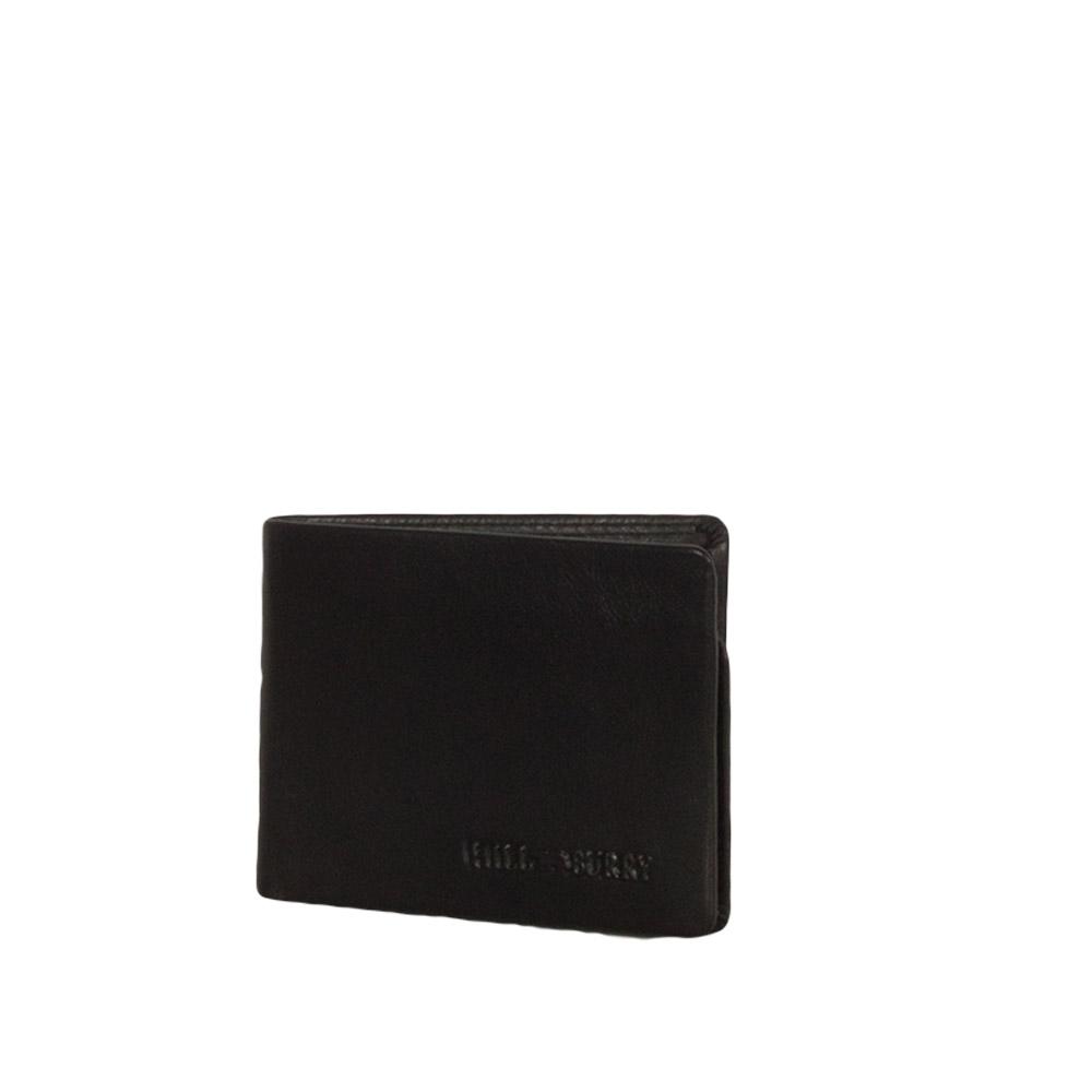 41285cf043 Hill Burry ανδρικό δερμάτινο RFID πορτοφόλι μαύ...