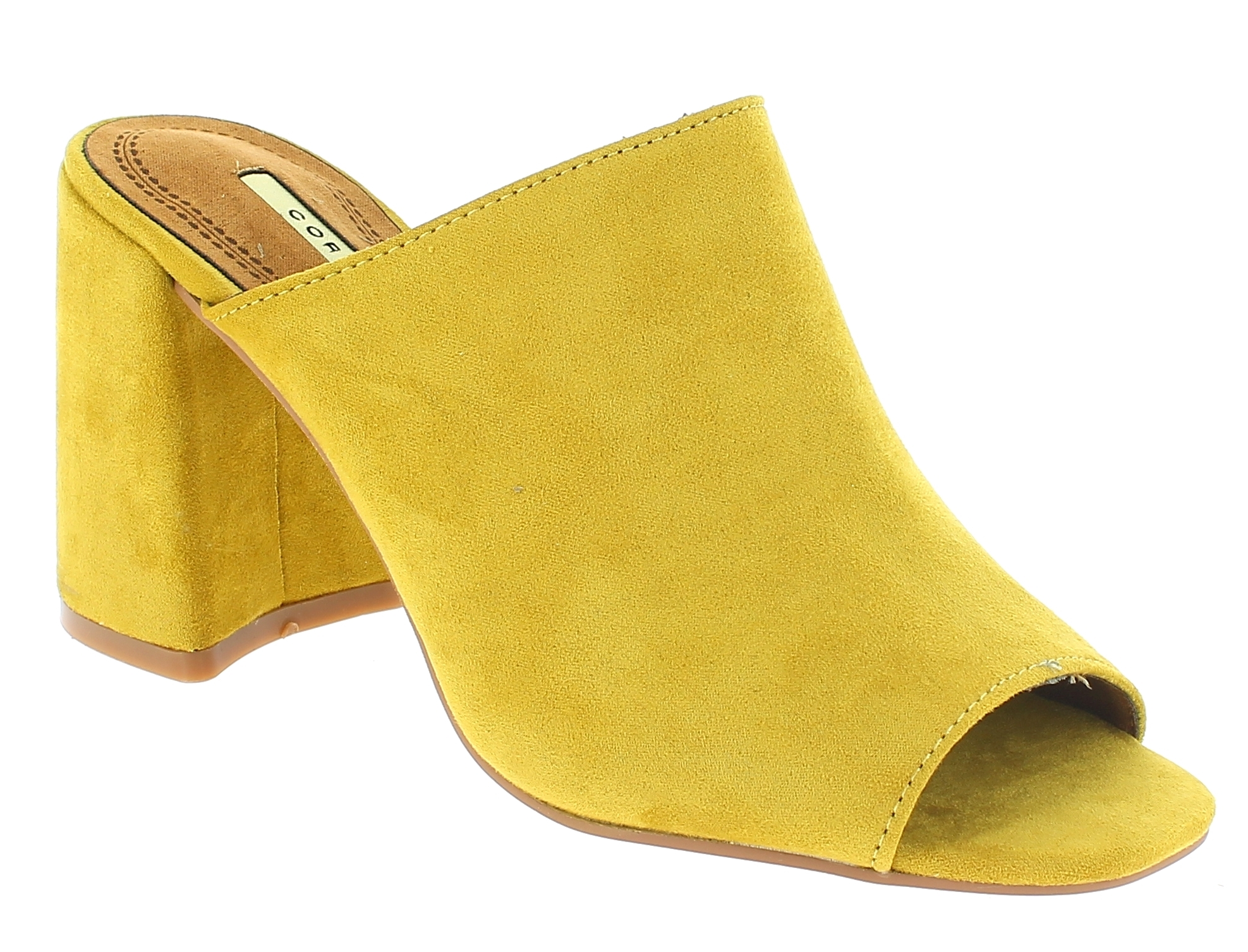 CORINA Γυναικείο Πέδιλο C8190 Κίτρινο - yellow - C8190  MOSTAZA-CORINA-yellow-37 bf91bb5b654