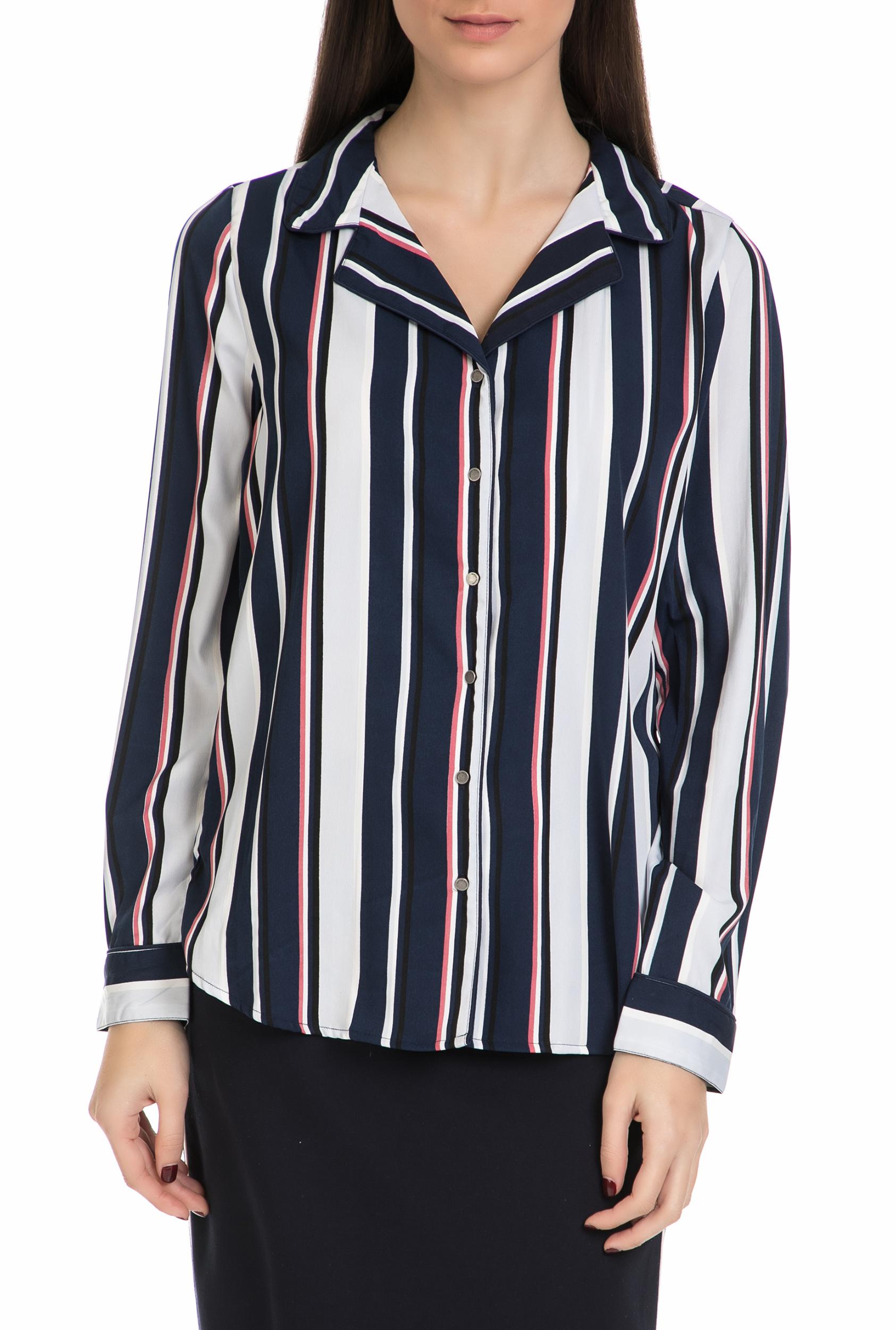 251d2359c107 GARCIA JEANS - Γυναικείο μακρυμάνικο πουκάμισο Garcia Jeans μπλε - λευκό -  κόκκινο