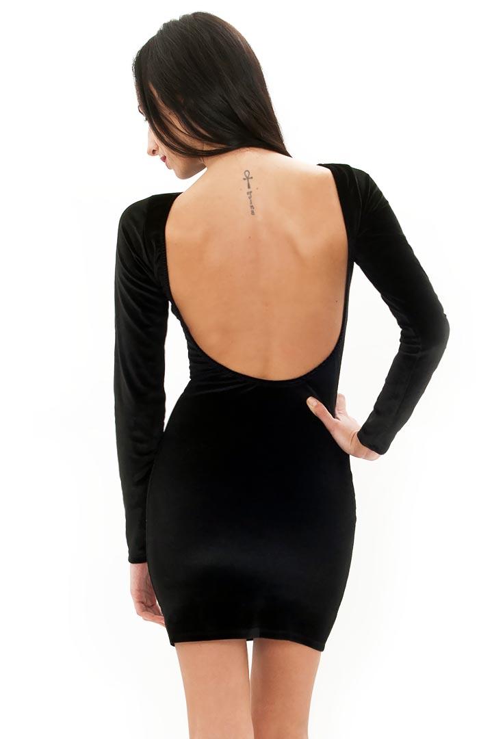 41dee1d21346 Βελούδινο φόρεμα με ανοιχτή πλάτη... 6246939