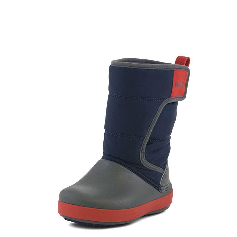 72599ad4daa Lodge Point Snow Boot K Crocs 204660 Μπλέ CROCS | Παιδικές Γαλότσες ...