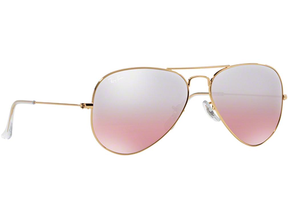 c40e6c8b86 Γυαλιά ηλίου Rayban Aviator Classic 3025 001 3E Χρυσό Καφέ-Ροζ Ασημί  Καθρέφτης