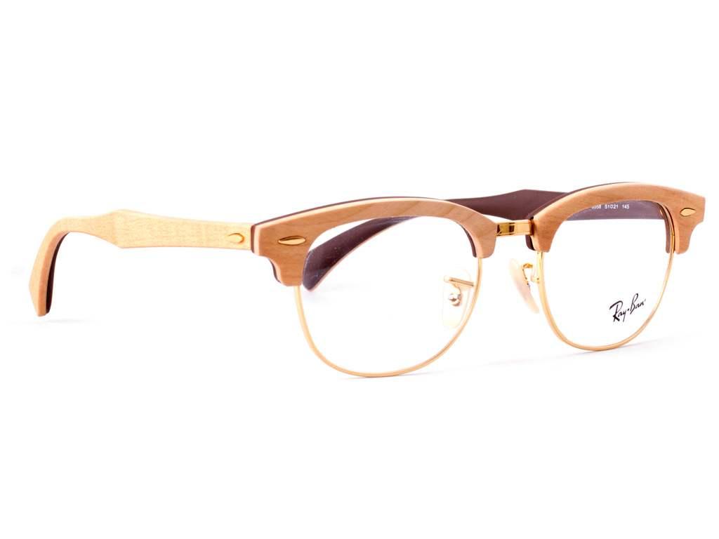 Γυαλιά οράσεως Ray-Ban Clubmaster Wood Rx 5154M 5558 Ξύλινο Σφένδαμο Καφέ  (5558) c0fce85dd31