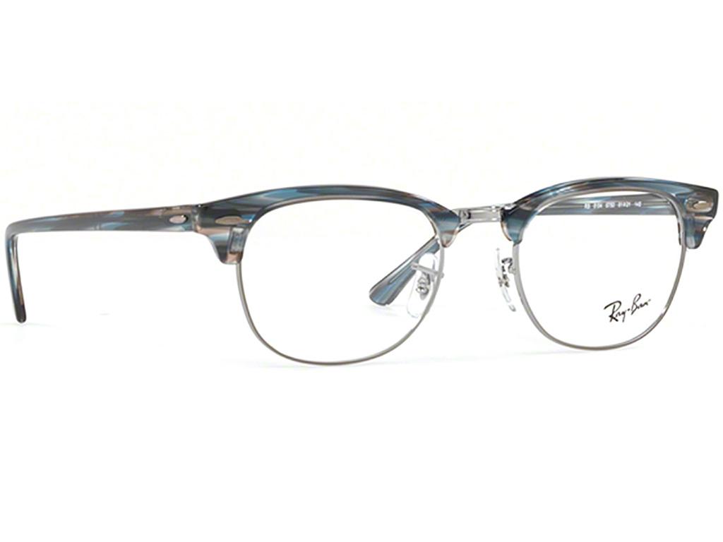 Γυαλιά οράσεως Ray-Ban Clubmaster Rx 5154 5750 Ριγέ Μπλε Γκρι (5750) 481f703c434