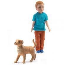 Djeco Σετ κουκλόσπιτου μπαμπάς με σκύλο 'Xavier'