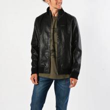 a406bcb316 Δερμάτινο Μπουφάν Armani jeans LAPIDOBA Σύνθεση...
