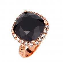 Δαχτυλίδι ροζέτα σε ασήμι 925 με μαύρη πέτρα SW...  1c6d5416a0f
