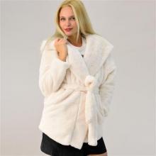 Γυναικείο παλτό γούνα με ζώνη 9310183 5df022c19c8
