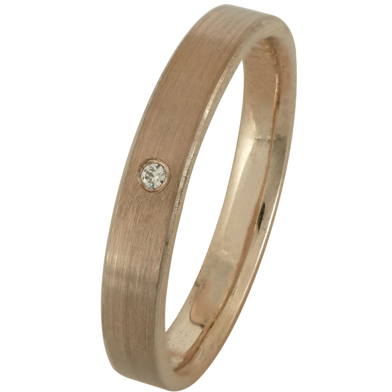 Ασημένια Βέρα Γάμου Ροζ Επιχρυσωμένη με ή χωρίς Πέτρες WRS168R ... 7969abcf36f