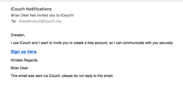 Client invitation email example