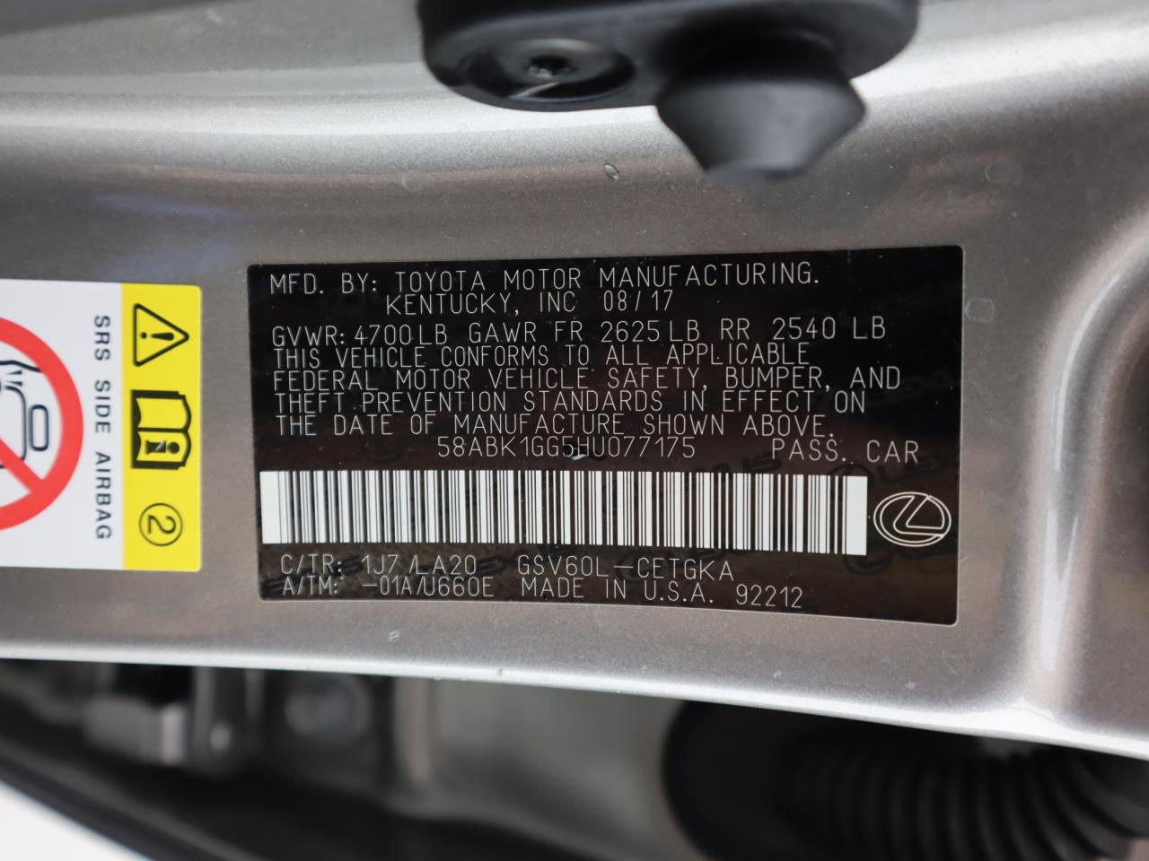 used vehicle - Sedan LEXUS ES 2017
